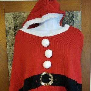 Holiday Time Christmas Little Red Santa Claus Cape